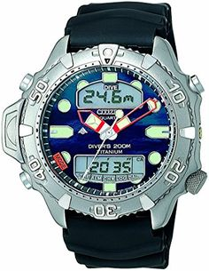 a5e728f6edb Citizen Quartz Gents  Promaster Aqualand II Diver Titanium Watch