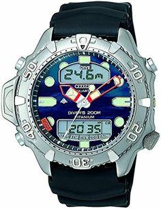 a5e728f6edb Citizen Quartz Gents  Promaster Aqualand II Diver Titanium Watch