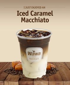 Wawa Hot Iced Beverages Caramel Macchiato
