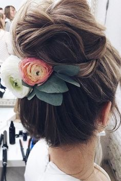 30 Inspiring Wedding Hairstyles By Tonya Stylist ❤ wedding hairstyles by tonyastylist high bun with flowers tonyastylist ❤ See more: http://www.weddingforward.com/wedding-hairstyles-by-tonyastylist/ #weddingforward #wedding #bride #bridalhair #weddinghairstyle #weddinghairstylesbytonyastylist