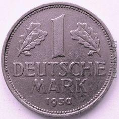1 Deutsche (West-)Mark 1950. Erinnerungen an Deine Jugend werden auf 1945.unserjahrgang.de wach