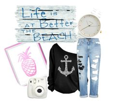"""winter beach (hurry summer)"" by jjbear on Polyvore featuring Nixon and Genetic Denim"