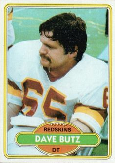 Washington Redskins Players all-time | Dave Butz 1980 Topps #499 Rookie Card - Washington Redskins