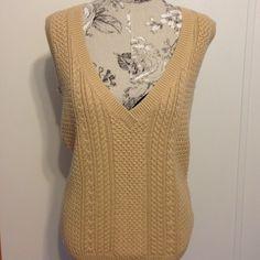 Talbots Sleeveless V Neck Sweater Vest L Nice vest. 63% cotton 32% nylon 5% cashmere Talbots Sweaters V-Necks