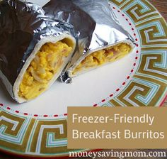 If you love McDonald's Breakfast Burritos, you've GOT to try these Homemade Freezer-Friendly Breakfast Burritos! They are SO good -- and much cheaper and healthier, too!