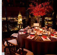 Wedding, Reception, Centerpiece, Ceremony, Red, Brown