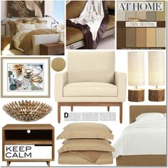 """""""Neutral Bedroom"""" by elena-starling on Polyvore"""