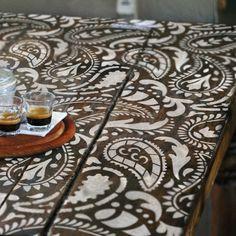 TAJ MAHAL Indian Furniture Stencil / Craft Stencil - Paisley Stencil - TA002F