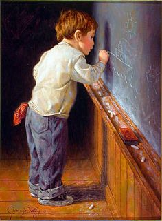 """A repin of art by Jim Daly, """"Inspired"""""""