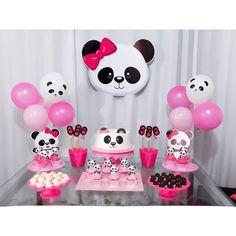 Panda Themed Party, Panda Birthday Party, 3rd Birthday Cakes, Panda Party, Diy Birthday, Birthday Party Decorations, Birthday Parties, Bolo Panda, Panda Decorations