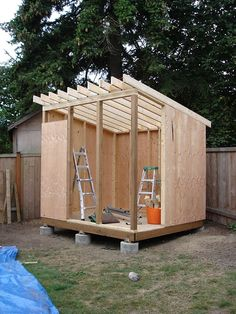 Affordable shed building a shed shed plans with porch shed building plans shed home depot garden shed plan free. Backyard Sheds, Outdoor Sheds, Garden Sheds, Garden Shed Ideas Nz, Diy Garden, Shed Roof, House Roof, Garage House, Building A Shed