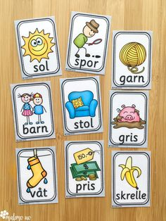 Ord- og bildekort: en gavepakke for TPO Danish Language, Diy And Crafts, Crafts For Kids, Speech And Language, Toddler Activities, Special Education, Norway, Preschool, Barn