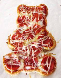 teddy bear pizza - and other bear food ideas.