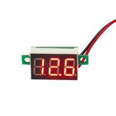 Free Shipping 0.36 Inch Mini LED Digital Voltmeter Red/Blue Panel Voltage Meter DC 4.7~32V 3-Digit Display Voltmeter