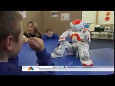Robot works with autistic students to develop communication and academic skills…