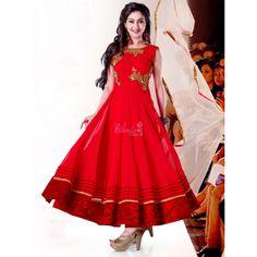 Maroon Georgette #Party Wear Anarkali Suits With Dupatta #Salwarkameez