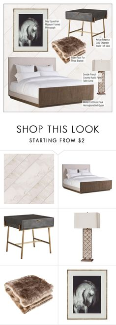 """""""Rustic Bedroom Decor"""" by kathykuohome ❤ liked on Polyvore featuring interior, interiors, interior design, home, home decor, interior decorating, bedroom, rustic, bedroomdecor and rusticdecor"""