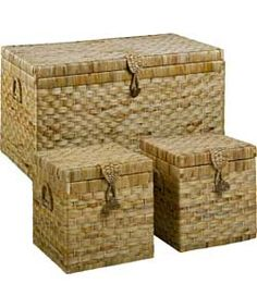 Buy Large Wicker Chest and 2 Boxes - Natural at Argos.co.uk - Your ...