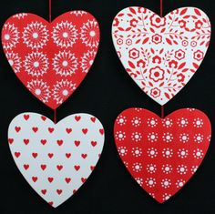 Nordic Christmas Decorating | Gisela Graham Christmas Wooden Nordic Heart Decorations :: Christmas ...