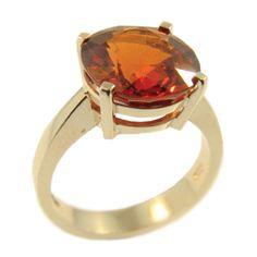 Yellow Gold & Spessartite Ring, handmade at Cameron Jewellery Heart Ring, Jewellery, Gemstones, Yellow, Winter, Rings, Gold, Handmade, Winter Time