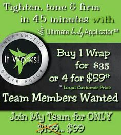 Wether you join the team or use the product yourself you will not regret it...Making money while offering an awesome product that works...Call me to set up appointment 8328917395...Or you can go to my website and get to ordering: https:// rojaswraps.myitworks.com