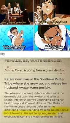 The Legend of Korra/Avatar the Last Airbender: katara and Korra