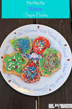 Super easy sugar cookies recipe that you can do with kids.