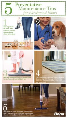 5 Preventative Maintenance Tips from Bona to keep your hardwood floors beautiful for a lifetime.