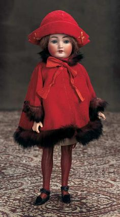 All-Original German Bisque Flapper Doll,1159,by Simon and Halbig. http://Theriaults.com