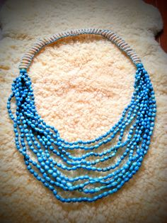 Sea shells, Turquoise necklace.. For friends who have metal allergies this is a perfect necklace for you
