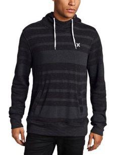 Amazon.com  Hurley Men s Retreat Allstripe Pullover Hoodie  Clothing 28ab346c1adf6