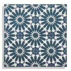 Access our complete collection of handmade encaustic cement tile from Zia Tile. We carry solid color tiles to gorgeous geometric patterns and traditional floral designs. Make your walls and floors come alive at Zia Tile. Navy Blue Walls, Bathroom Floor Tiles, Kitchen Tiles, Bathroom Gray, Wall Tiles, Cement Bathroom, Valerie's Kitchen, Moroccan Bathroom, Mosaic Tiles