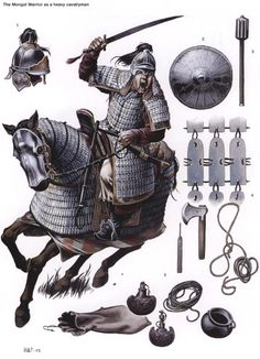 The Mongol Warrior as a heavy cavalryman