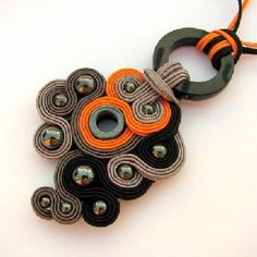 by Andape. A modern minimalist version of all the soutache jewelry being made now.
