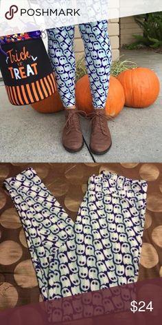 LuLaRoe Ghost Leggings OS EUC LuLaRoe ghost leggings. Washed per LuLaRoe guidelines. No damage. No trades please  LuLaRoe Pants Leggings
