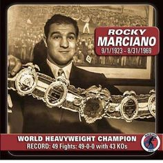 RIP To The Legend: On this day in 1969 on the Eve of his 46th birthday Boxing Legend Rocky Marciano Died in a tragic plane crash. FOLLOW @the_fightgame FOR THE LATEST BOXING NEWS #marciano #rockymarciano #italian #italia #italianamerican #worldheavyweightchampion #undefeated #undisputed  #boxing#boxer#box#boxers#ufc#mma#jiujitsu#conormcgregor#floydmayweather#mayweather#rondarousey#rousey#boxingvsmma#hollyholm#miketyson#tyson#ggg#gennadygolovkin#mannypacquiao#sports #thefightgame