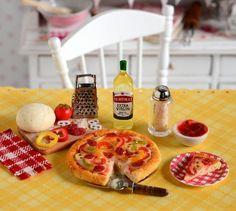 Miniature Making Pepperoni Pizza Set