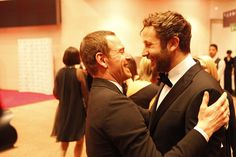Photos   The IFTA's 2012 - Red Carpet - entertainment.ie Chris O'dowd / Michael Fassbender