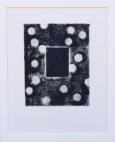Original Monoprint on Paper 11 x 14 framed