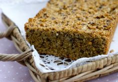 Dr. Berit Norstrand. Low-Carb bread (norwegian). Bread Recipes, Low Carb Recipes, Healthy Recipes, Healthy Food, Dairy Free Baking, Good Food, Yummy Food, Low Carb Bread, Banana Bread