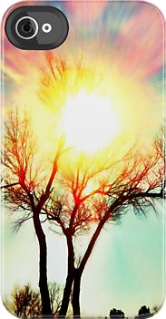 iPhone hard cover case- The multicolor image shown on this case is really gorgeous! I love the tree in the sunset