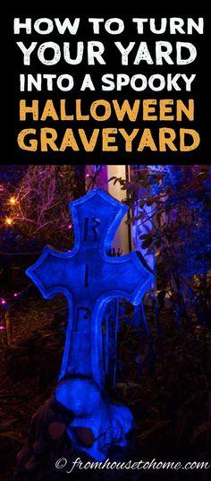 Scary Halloween Graveyard