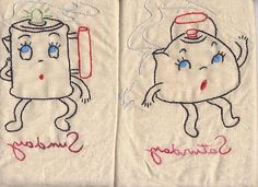 anthropomorphic tea towels