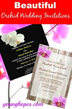 Orchid themed wedding invitations look so beautiful and mesmerizing. This is so because Orchid flowers are regarded as one of the most graceful and elegant flowers which have a subtle beauty of their own. These exotic flowers are known to…Read more → Inexpensive Wedding Invitations, Wedding Invitations Online, Wedding Programs, Elegant Flowers, Exotic Flowers, Orchid Flowers, Wedding Planning On A Budget, Vintage Mermaid, Orchids