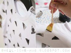 DIY: Tshirts bedrucken & bemalen