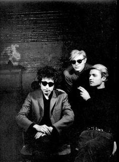 Bob Dylan, Andy Warhol & Gerard Malanga