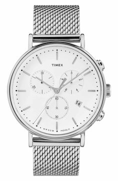 Main Image - Timex® Fairfield Chronograph Mesh Strap Watch, 41mm