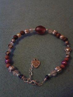 Custom made bracelet, Chakra colours £9.