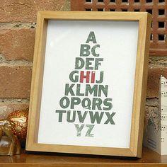 """""""HI"""" Christmas Tree Card... cute!"""