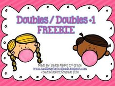 This freebie is a sample of my Double Bubble: Doubles and Doubles +1 Unit. It includes 2 activity sheets.  Download these cute worksheets at:  https://www.teacherspayteachers.com/Product/Doubles-and-Doubles-Plus-1-FREEBIE-732590